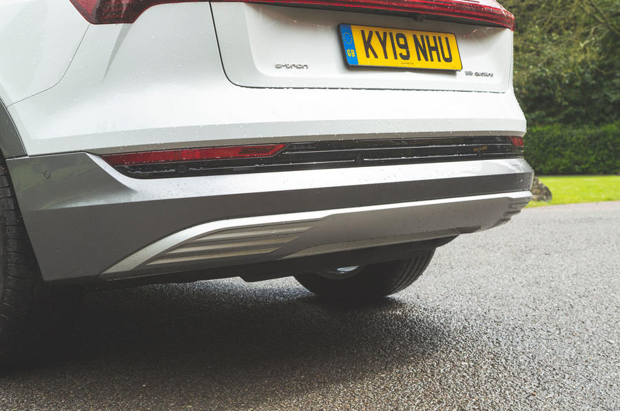 Audi E-tron 2019 long-term review - rear bumper