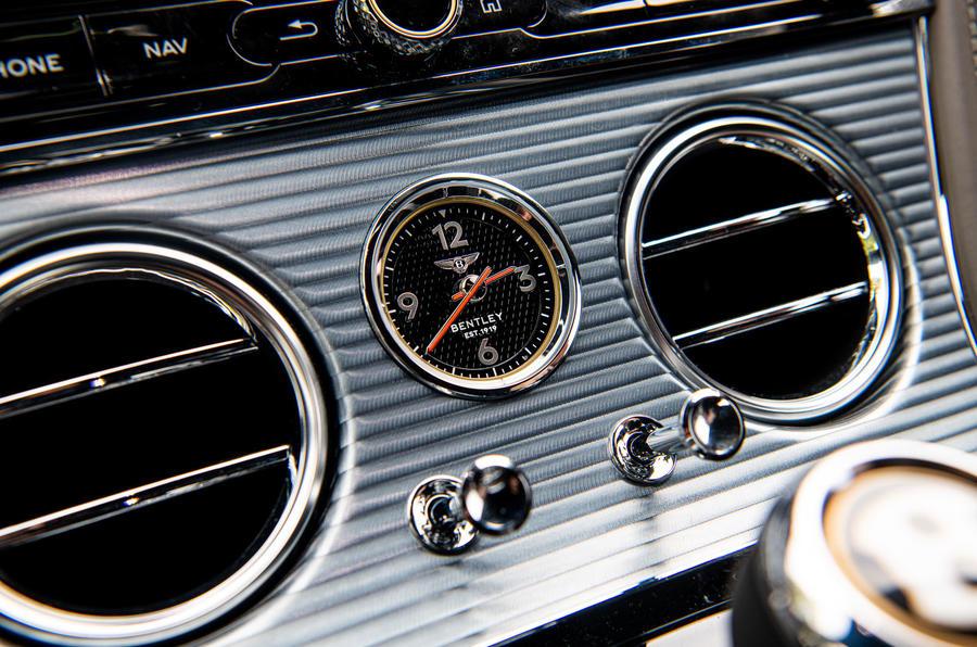 Bentley Continental GT 2019 long-term review - clock