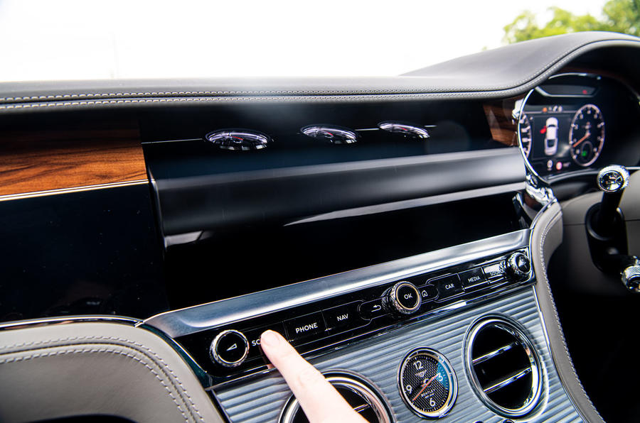 Bentley Continental GT 2019 long-term review - rotating screen