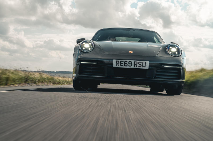 Porsche 911 Carrera 2020 long-term review - on the road nose