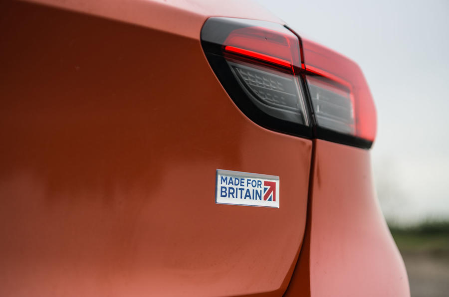 Vauxhall Corsa 2020 long-term review - made for Britain badge