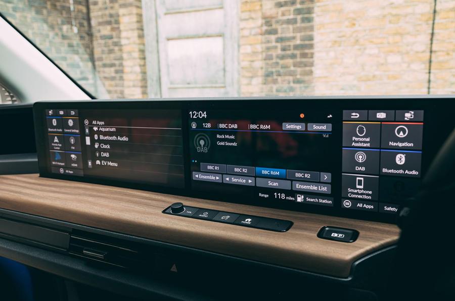 Honda e 2020 : essai à long terme - instruments