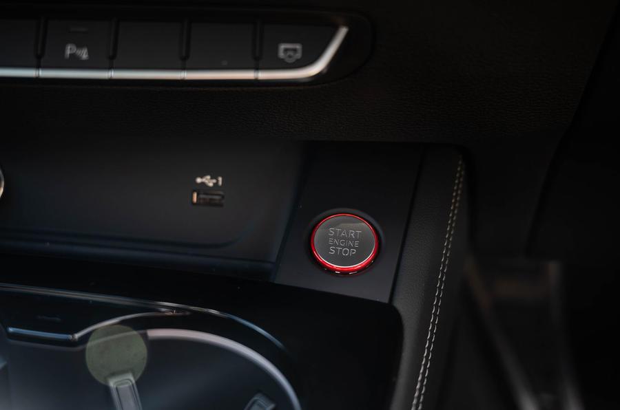 Audi S5 Sportback 2020 long-term review - start button