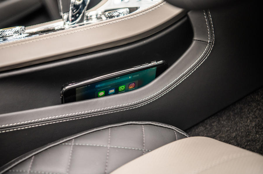 Bentley Continental GT 2019 long-term review - smartphone pocket