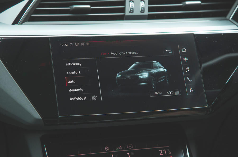Audi E-tron 2019 long-term review - drive modes