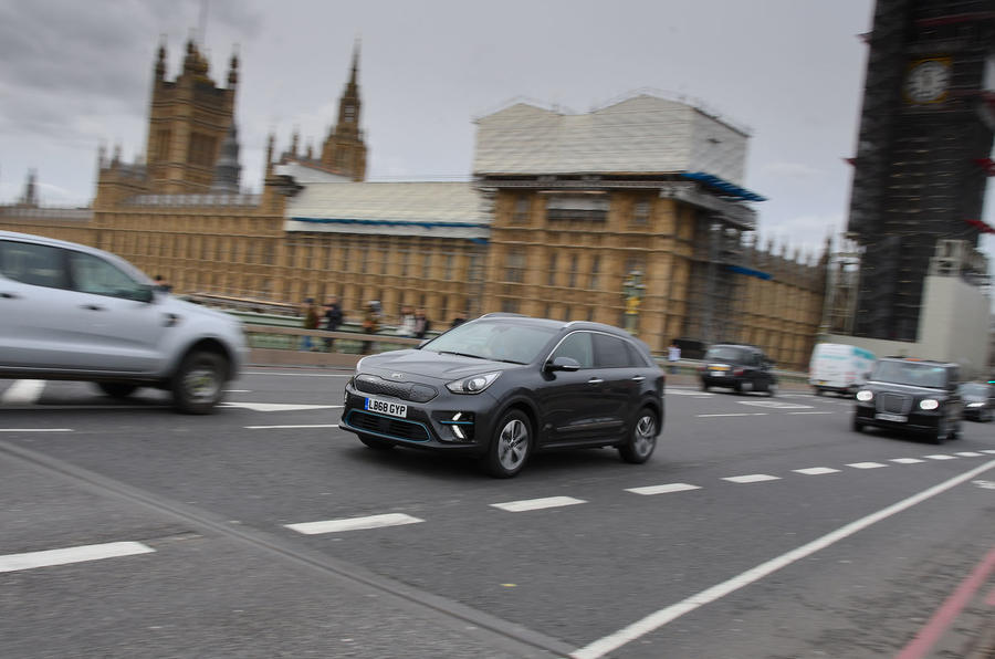Kia e-Niro 2019 long-term review - Westminster front