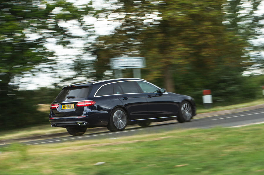 Mercedes E300de 2019 long-term review - on the road rear