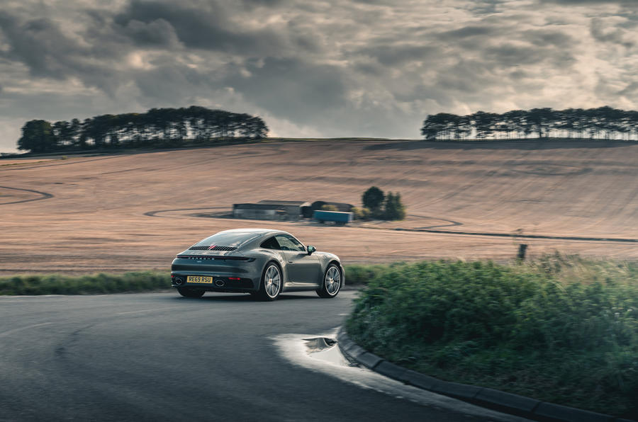 Porsche 911 Carrera 2020 long-term review - cornering rear
