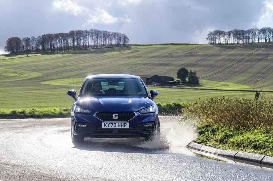 Seat Leon TSI 2021 long-term review - cornering front