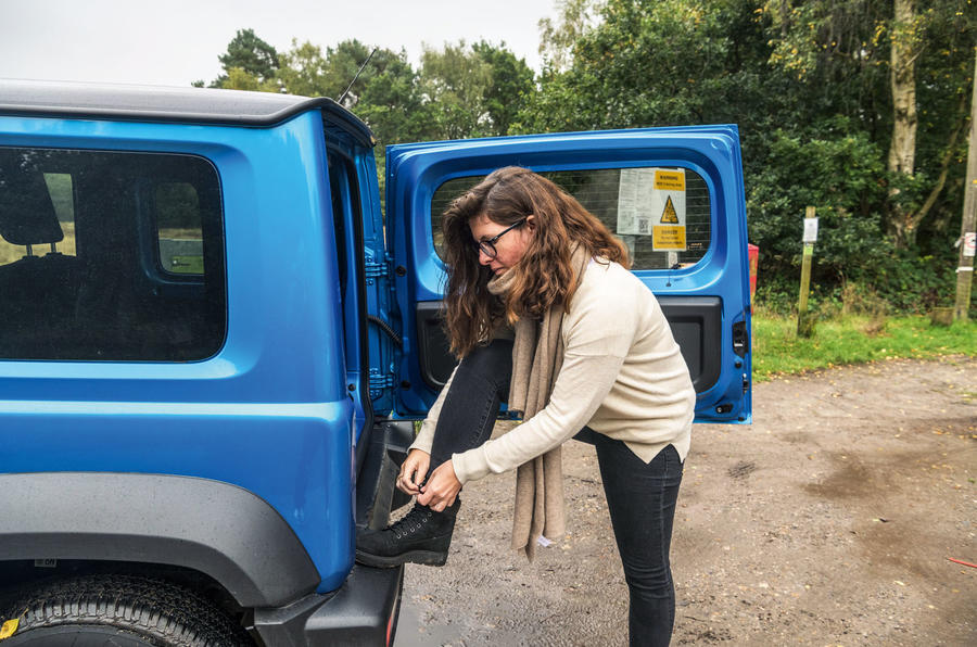 Suzuki Jimny 2019 long-term review - lacing boots