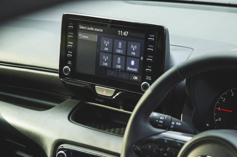 15 Toyota GR Yaris 2021 : infotainment sur l'examen à long terme