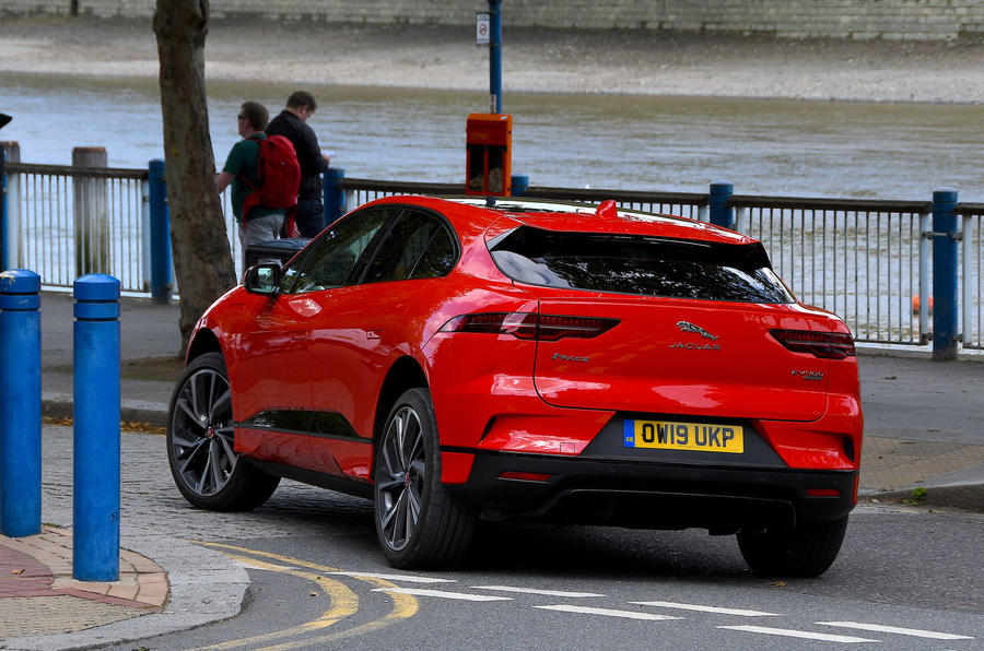 Jaguar I-Pace 2019 long-term test review - on the road rear