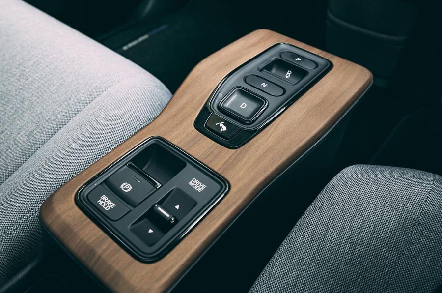 Honda e 2020 : essai à long terme - console centrale