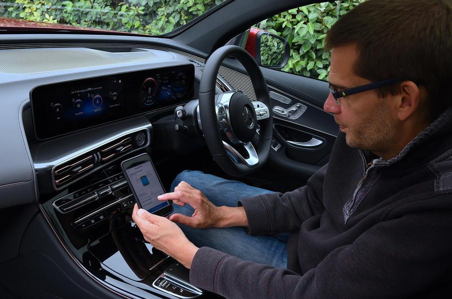 Mercedes-Benz EQC 2020 long-term review - app