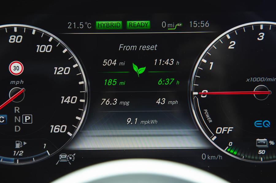 Mercedes E300de 2019 long-term review - efficiency