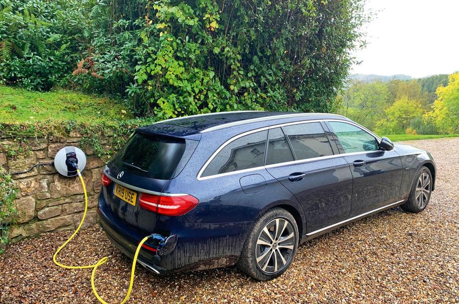 Mercedes E300de 2019 long-term review - charging at home
