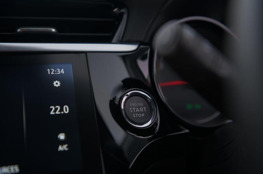 Vauxhall Corsa 2020 long-term review - start button
