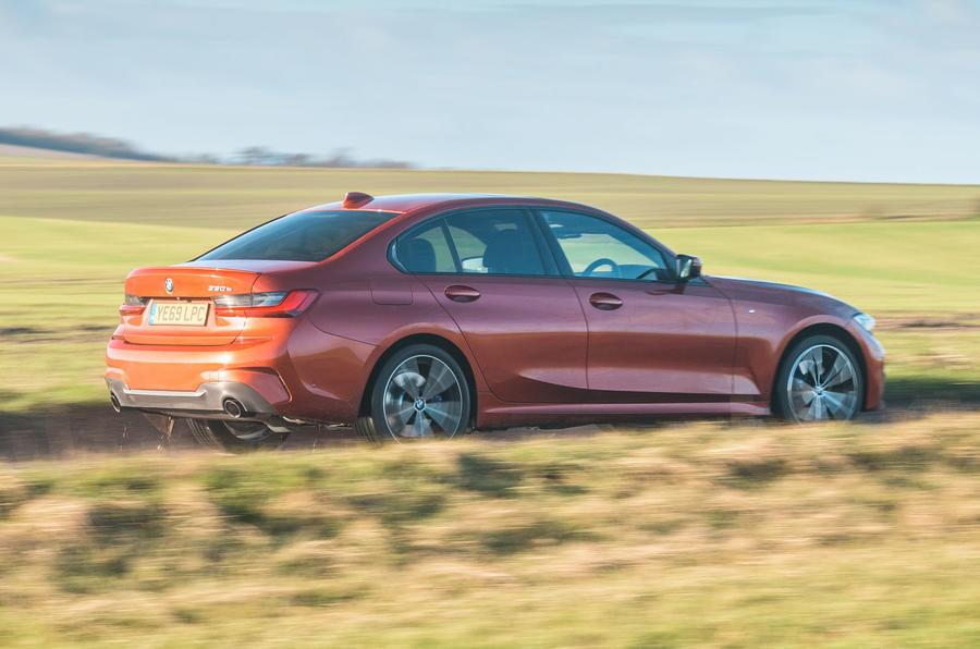 BMW 3 Series 330e 2020 long-term review - hero rear