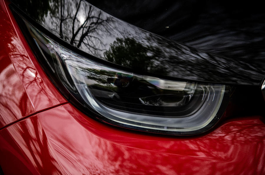BMW i3S 2019 long-term review - headlights