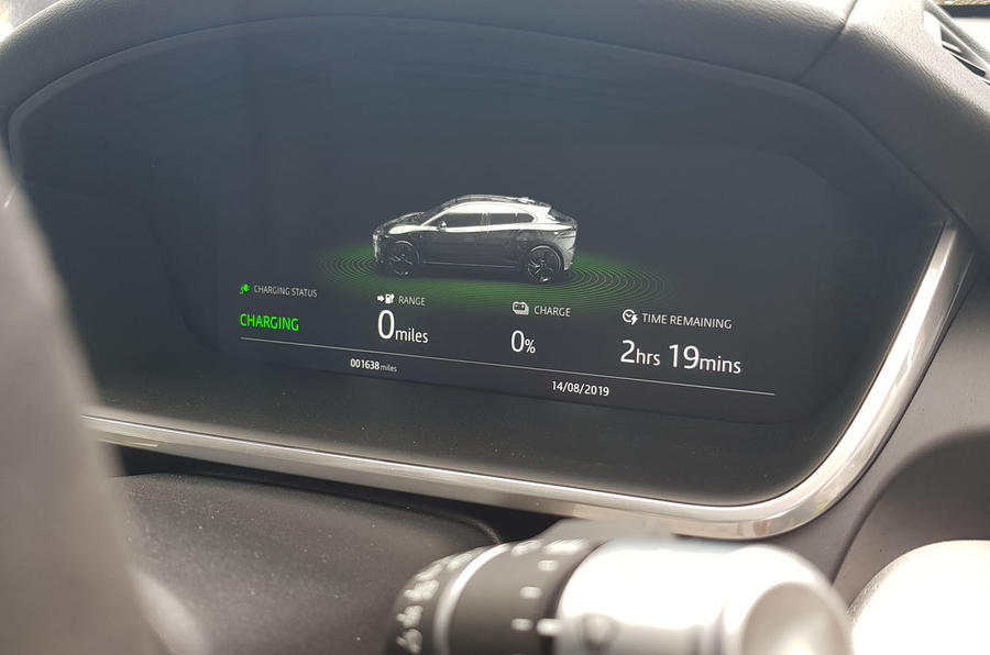 Jaguar I-Pace 2019 long-term test review - charging indicator