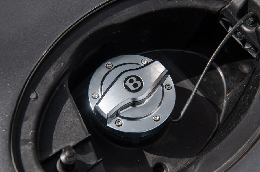 Bentley Continental GT 2019 long-term review - fuel filler cap