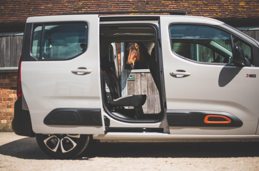 Citroen Berlingo 2019 long-term review - side doors open