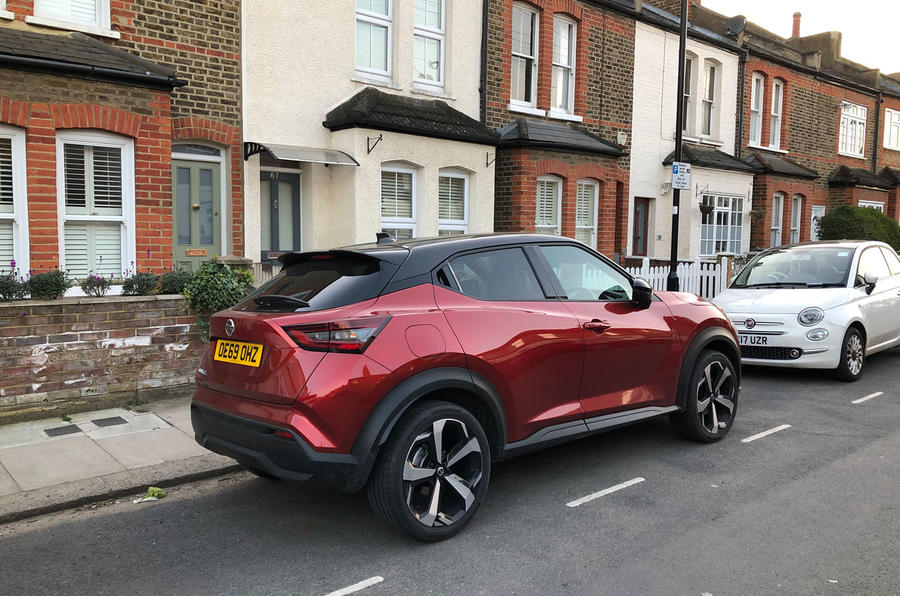 Nissan Juke 2020 long-term review - parked home