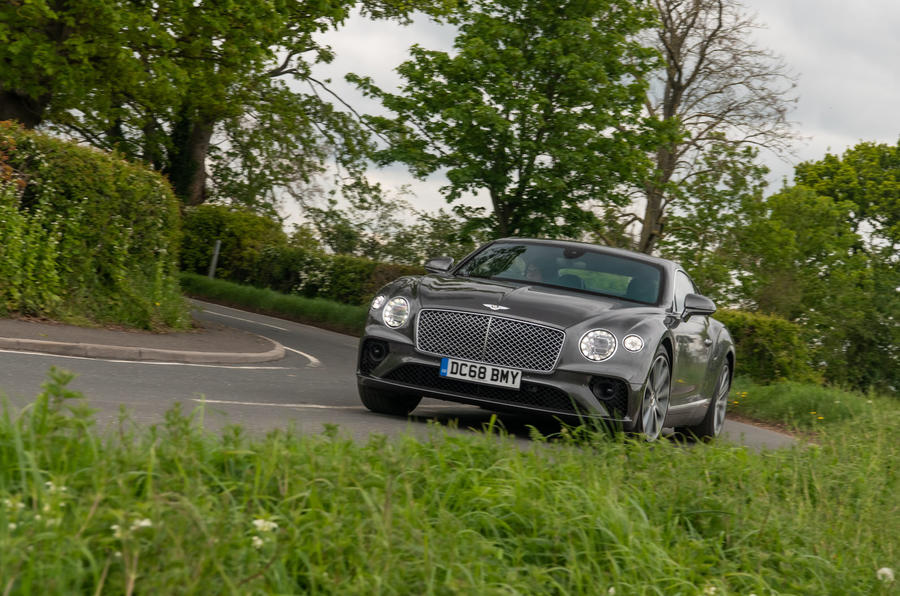 Bentley Continental GT 2019 long-term review - cornering front