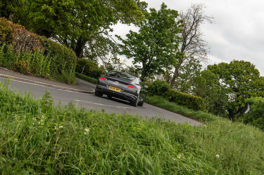 Bentley Continental GT 2019 long-term review - cornering rear