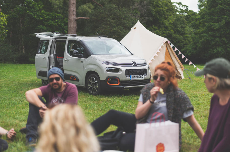 Citroen Berlingo 2019 long-term review - camping tent