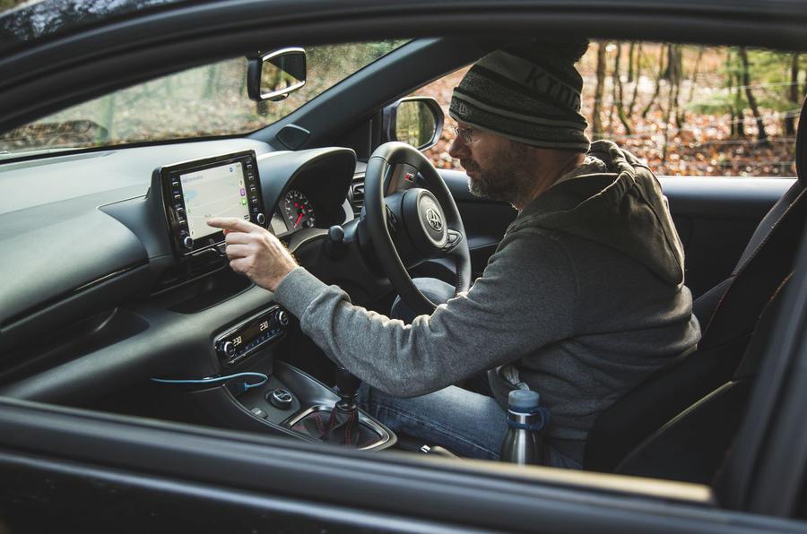 26 Toyota GR Yaris 2021 : examen à long terme MP infotainment