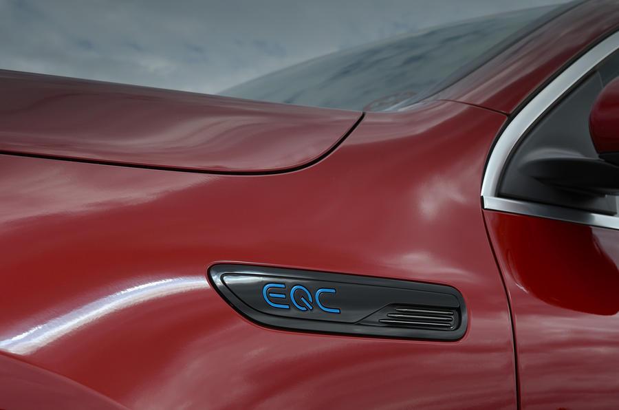 Mercedes-Benz EQC 2020 long-term review - decals