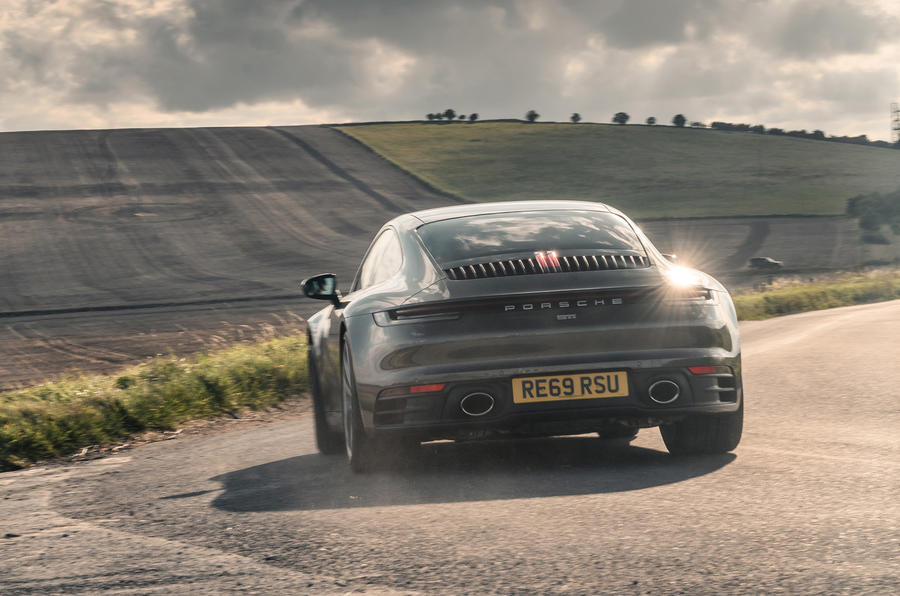 Porsche 911 Carrera 2020 long-term review - hero rear