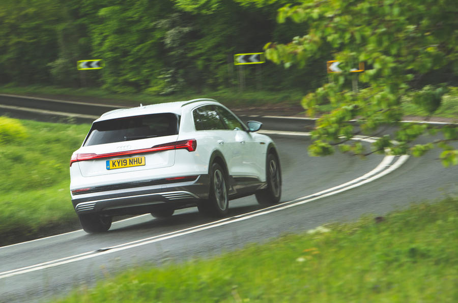 Audi E-tron 2019 long-term review - cornering rear