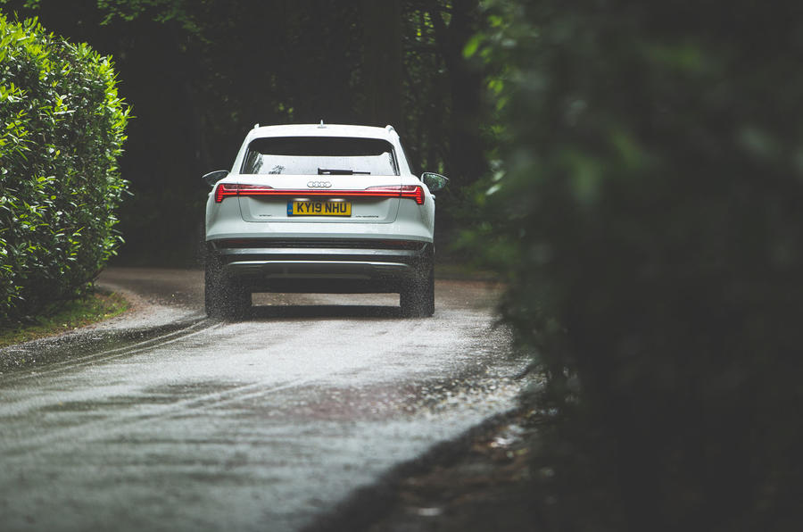 Audi E-tron 2019 long-term review - on the road rear lights