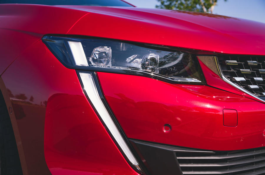 Peugeot 508 2019 long-term review - daytime running lights