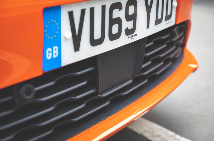 Vauxhall Corsa 2020 long-term review - ADAS sensor
