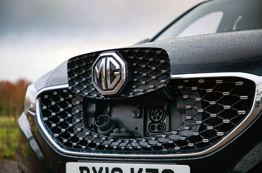 MG ZS EV 2020 long-term review - charging port