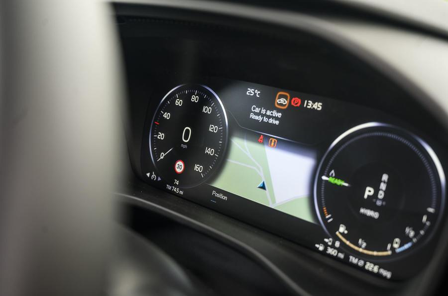 Recharge Volvo XC40 T5 2020 : bilan à long terme - instruments