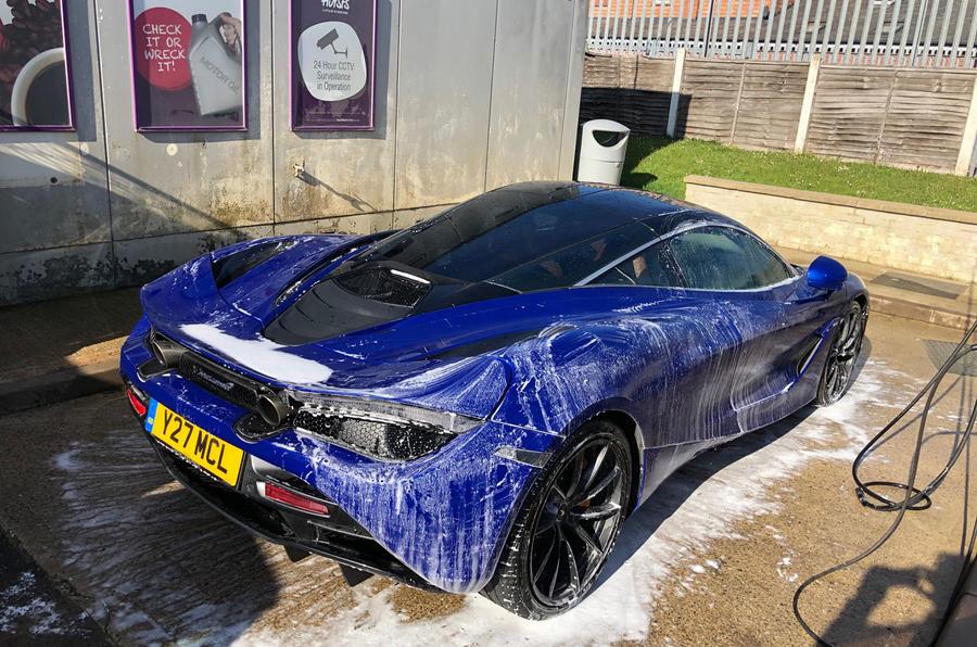 McLaren 720S washing