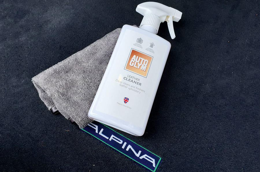 Alpina B4 S 2019 long-term review - leather cleaner