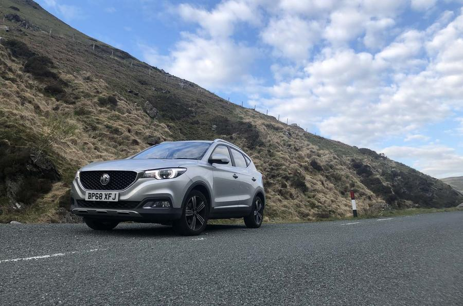 MG ZS 2019 long-term review - parked on a B-road