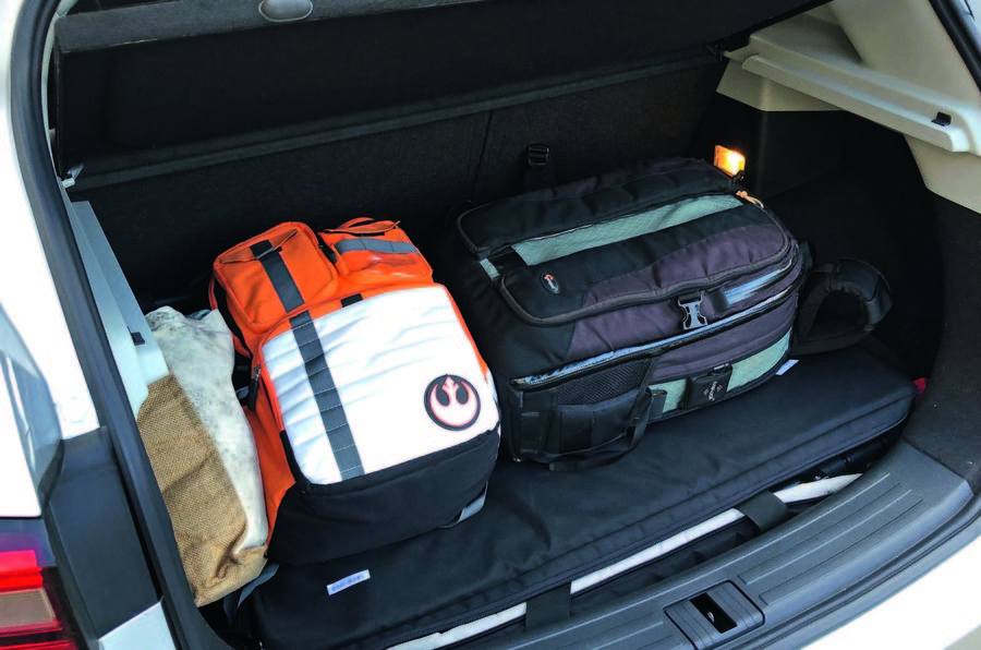 MG ZS 2019 long-term review - boot full of luggage