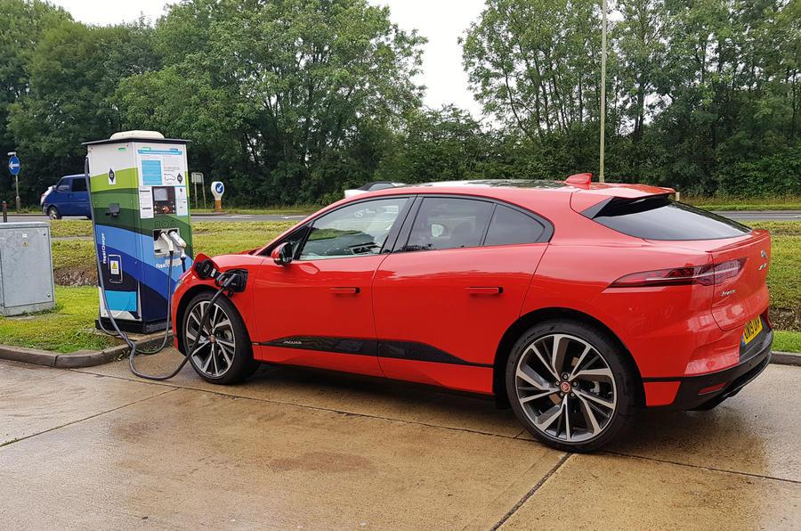 Jaguar I-Pace 2019 long-term test review - motorway charging