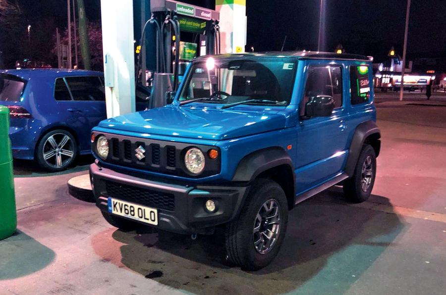 Suzuki Jimny 2019 long-term review - having a drink