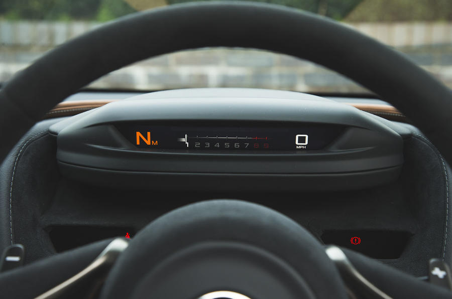 McLaren 720S long-term revolving instrument cluster