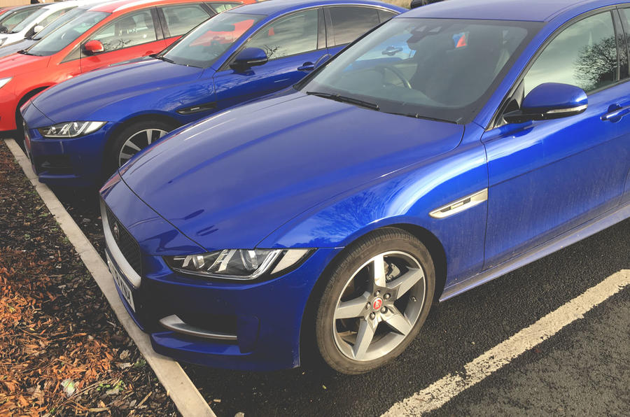 Jaguar XE 2019 long-term review - car park