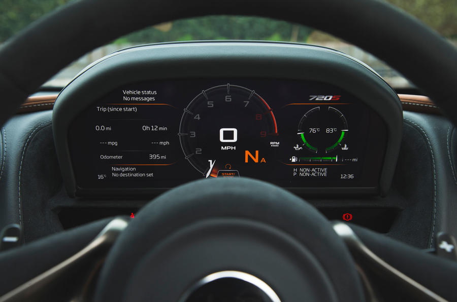McLaren 720S 2019 long-term review - instruments