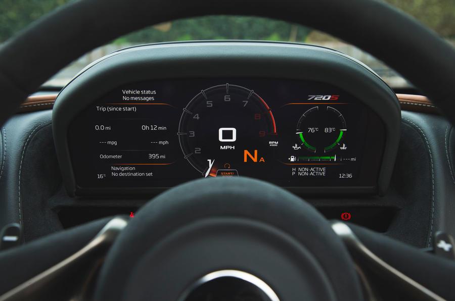 McLaren 720S 2019 long-term review - instruments