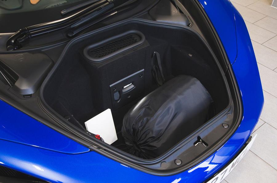 McLaren 720S 2019 long-term review - front boot